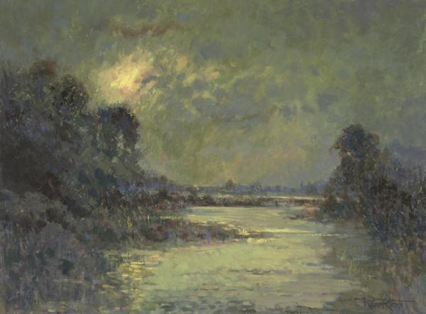 """Lakeshore Moon"" 18 x 24"